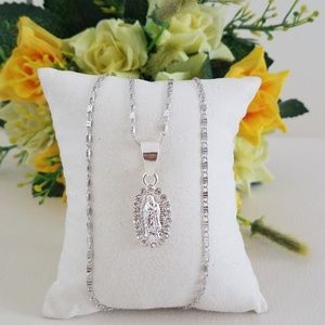 Jewelry - Silver Lady of Guadalupe Necklace